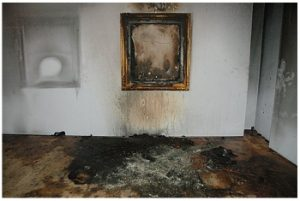Insurance fire art painting