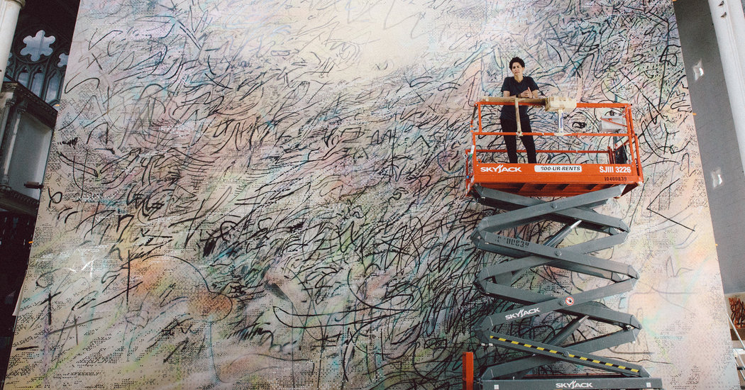 Julie Mehretu at SFMOMA