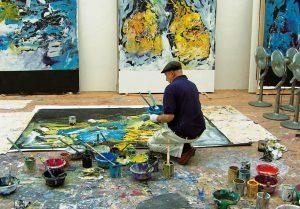 Georg Baselitz au travail