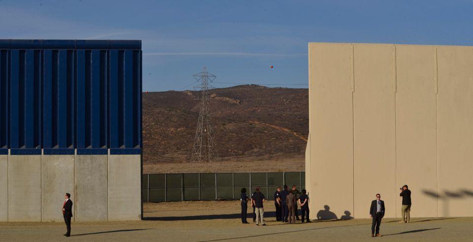 Christoph Büchel Maga border wall prototypes