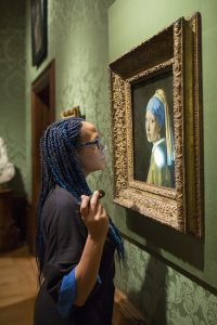 Vermeer Girl Pearl Earring inspection