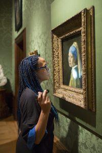 Vermeer Girl Pearl Earring inspection