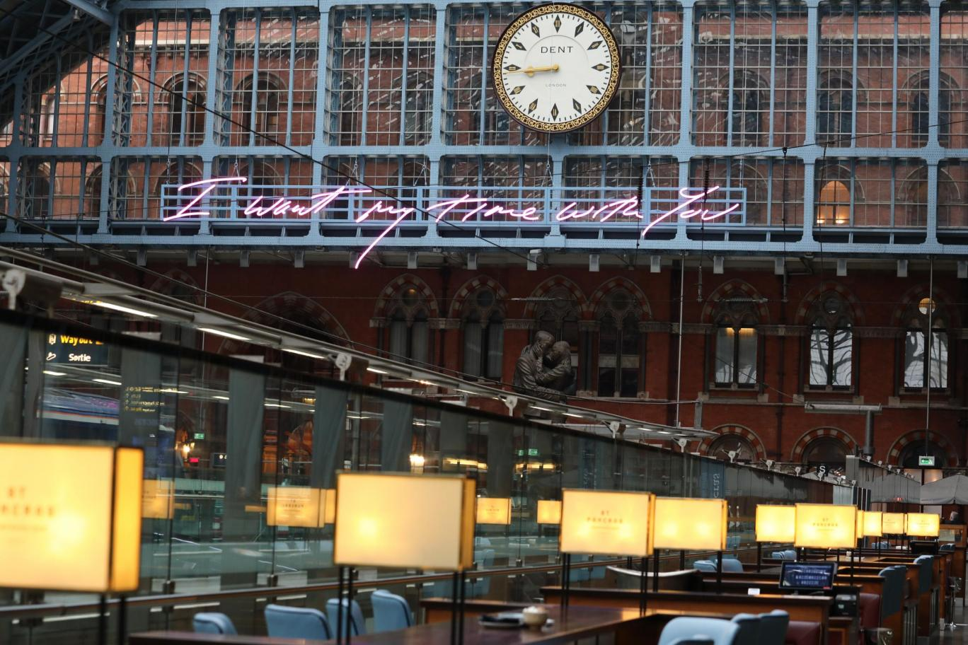 Tracey Emin St Pancras international